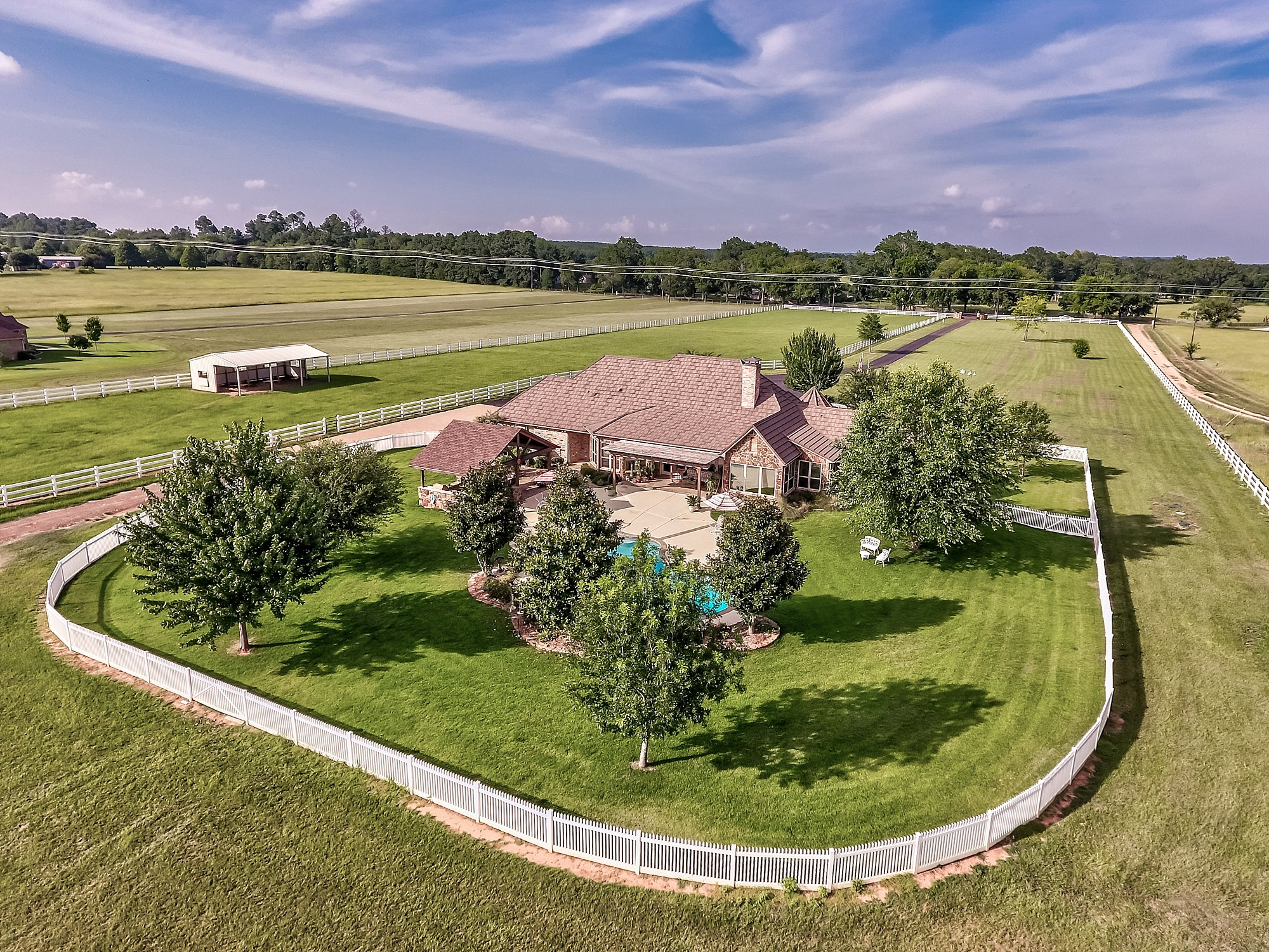 Aerial (drone) Photography - 23064 CR 121, Bullard, TX - Sam & Gail Loper - Keller Williams