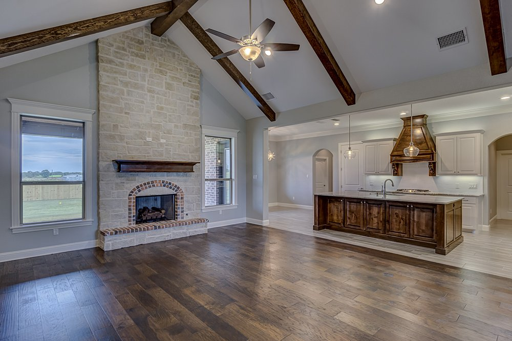 Living Room Marketing Photography - 148 Bush Buck Way, Bullard, TX - Jayson Chandler Homes, Inc.