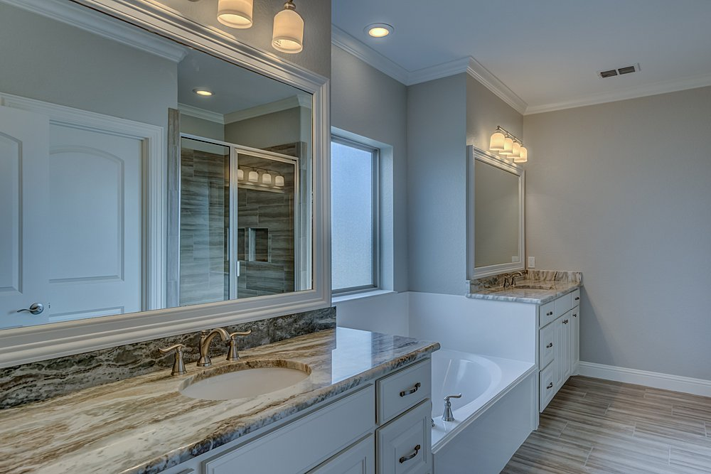 Master Bathroom Marketing Photography - 148 Bush Buck Way, Bullard, TX - Jayson Chandler Homes, Inc.
